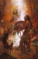 Transferring the Medicine Shield – Anniversary Masterwork Canvas Art Prints by Howard Terpning