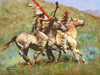 Tribal Warfare Art Prints by Howard Terpning