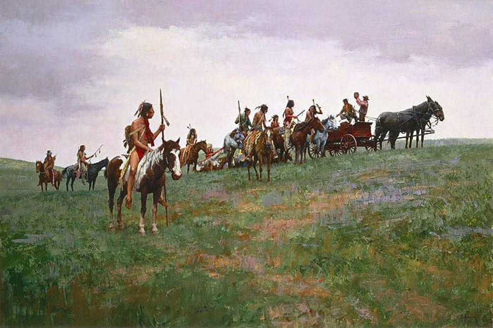 Whiskey Smugglers Art Prints by Howard Terpning