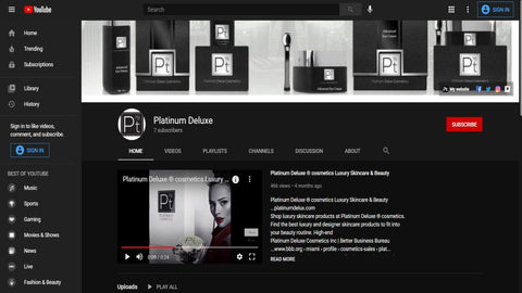 Platinum Deluxe - YouTubehttps://www.youtube.com › channel Luxury Skincare: High End Skincare Products Platinum Deluxe ® cosmetics take our beauty products seriously. From the most decadent skin creams to the ...