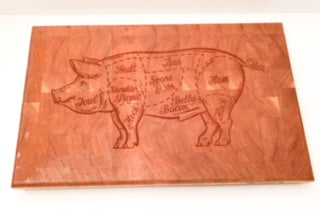Engraved cherry end grain cutting board