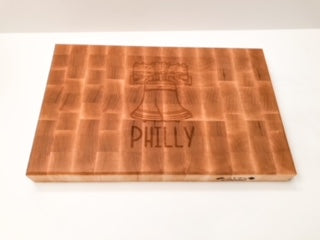 Liberty Bell End Grain Cutting Board