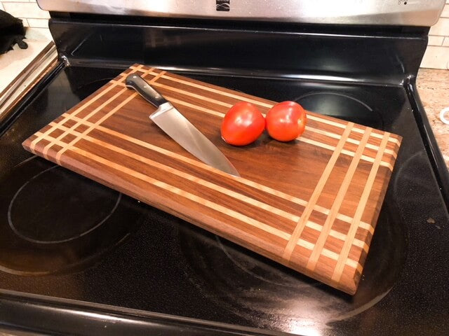 Walnut and Maple Cutting Board
