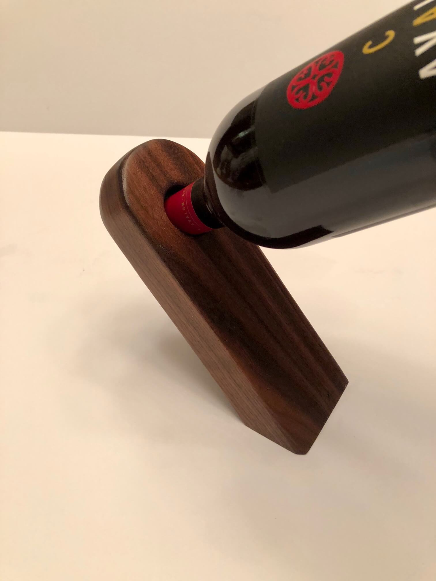Walnut Wine Bottle Stand