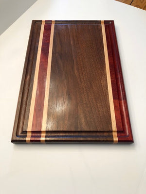 Cutting Board, Walnut, Padauk, Maple