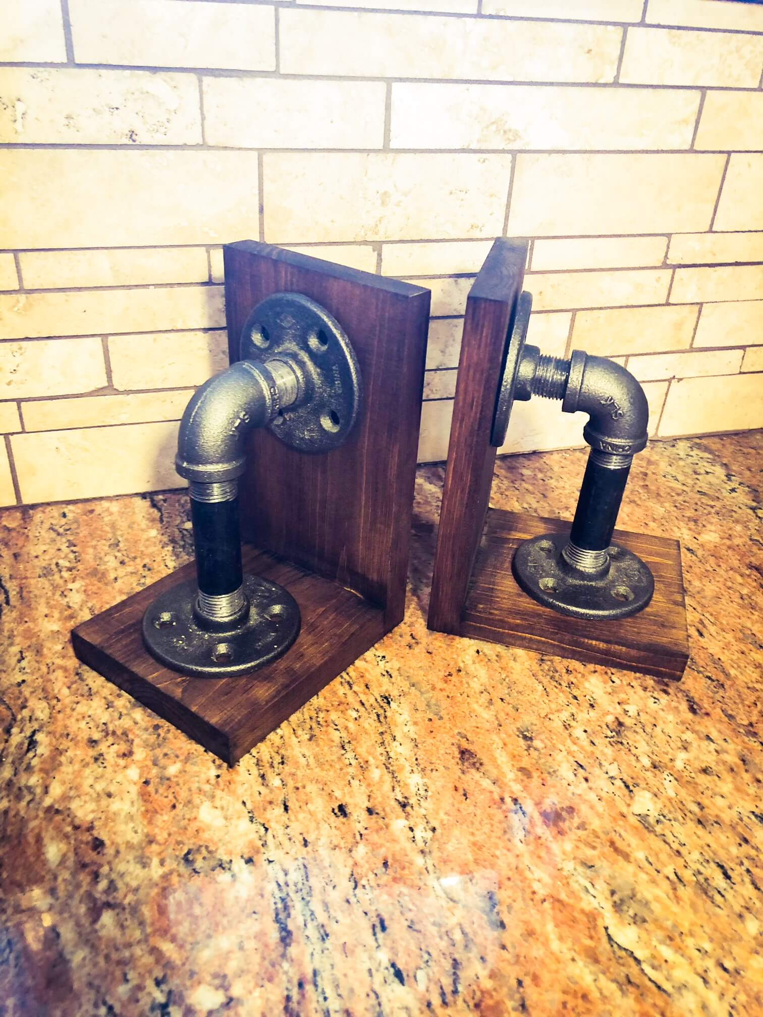 Industrial Bookends