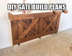 Build Plans for sliding dog / baby gate  (digital PDF)