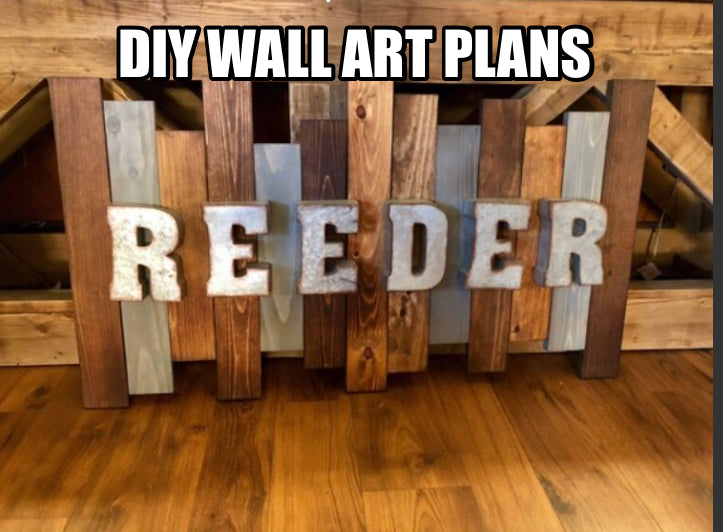 DIY Wall Art Plans  (Free)