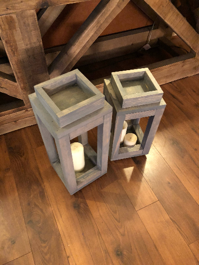 Rustic Weathered Grey Lanterns