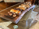 Charcuterie board, live edge wood cutting board, rustic farmhouse, kitchen decor, wood cheese board, wood serving tray with handles,new home