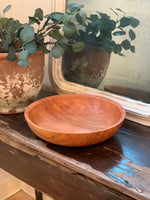 "12"" Solid Cherry Bowl, Wooden Bowl, Cherry Salad Bowl, Large Wood Bowl"