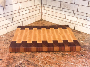 Mahogany and Ash End-Grain Cutting Board