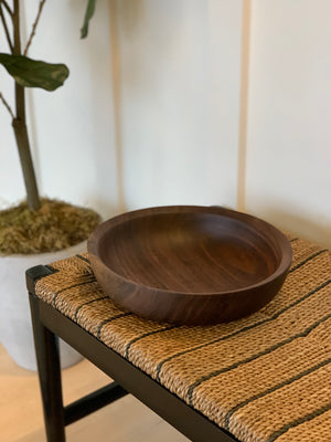 "12"" Solid Walnut Bowl, Wooden Bowl, Food Safe Wooden Bowl, Walnut Salad Bowl, Large Wood Bowl, Hardwood Bowl, Traditional Wood Bowl"