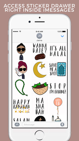 Mipster Moji sticker app (TM) by modernEID