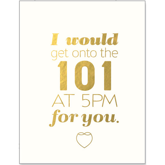 I'd get onto the 101 greeting card