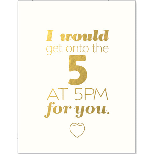 I'd get onto the 5 greeting card
