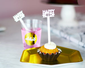happy eid drink stirrer cupcake picks