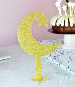 Acrylic crescent & star centerpiece/cake topper