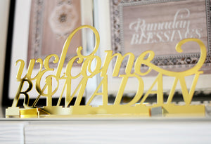 Welcome Ramadan tabletop sign