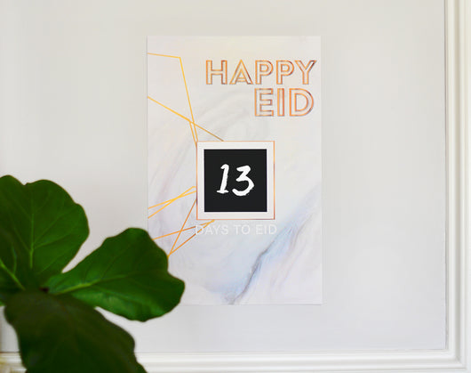 Marble Eid Countdown poster