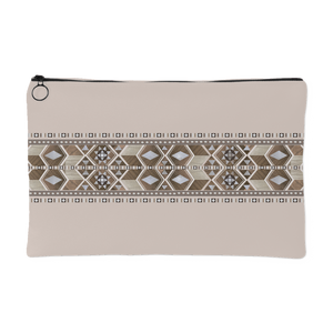 Damasq Small Canvas Pouch/Clutch