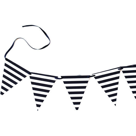 Black & White stripe banner