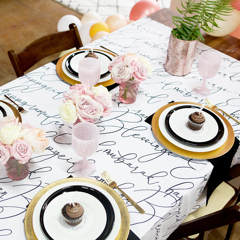 Calligraphy tablecloth