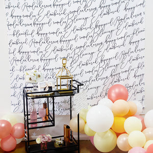Calligraphy backdrop / wall tapestry
