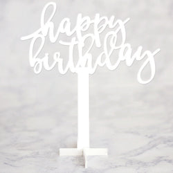 Acrylic Centerpiece- Happy Birthday
