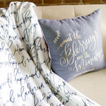 Load image into Gallery viewer, Count the Blessings Ramadan Pillow- Grey