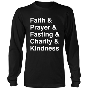 Faith Typography long sleeve shirt