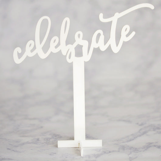 Acrylic Centerpiece- Celebrate