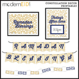 Eid Ramadan digital printable decorations