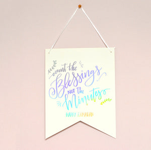Count the Blessings Ramadan- Wall Art Hanging