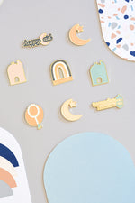 Load image into Gallery viewer, Enamel Pin Magnets- Ramadan & Eid