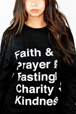 Load image into Gallery viewer, Faith Typography long sleeve shirt