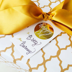 Gold Foil Gift tags - Happy Eid