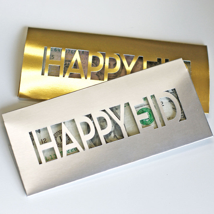 Happy Eid Money Envelopes- laser cut