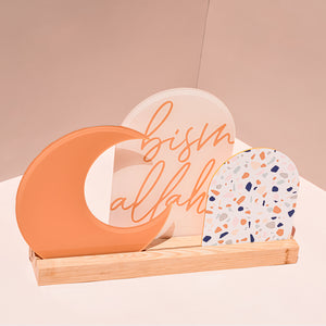 Luna Crescent Moon acrylic sign