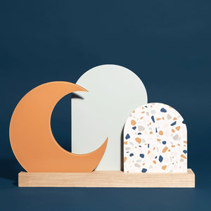 Luna Abstract art/Terrazzo reversible sign