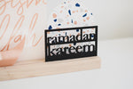 Load image into Gallery viewer, Luna Abstract art/Terrazzo reversible sign