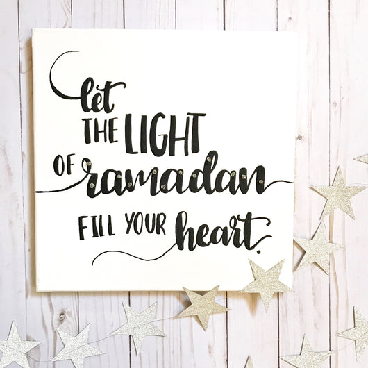 calligraphy lighted canvas DIY for Ramadan