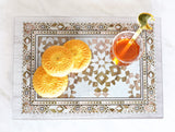 Damasq Collection Glass cutting board / serving tray