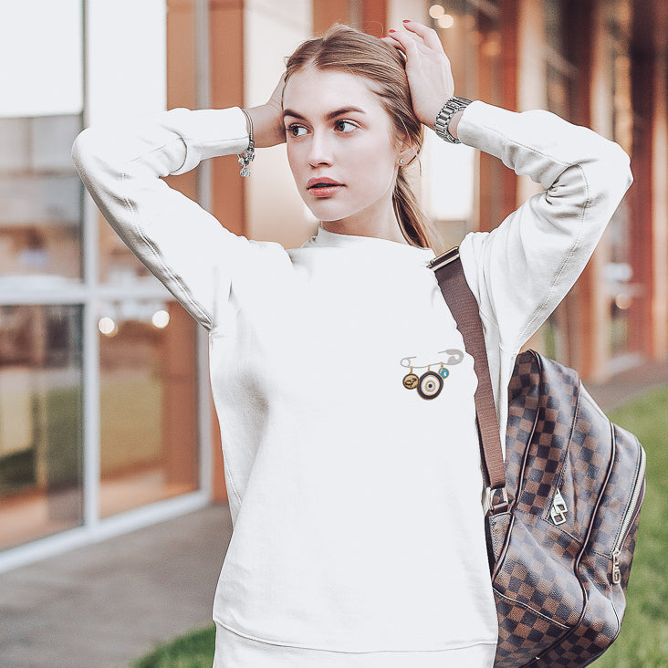 Karma Safety Pin Sweatshirt