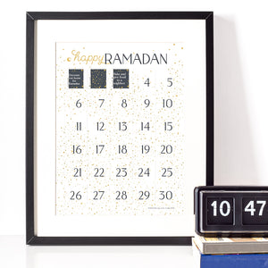 Constellation Ramadan Advent Calendar printable