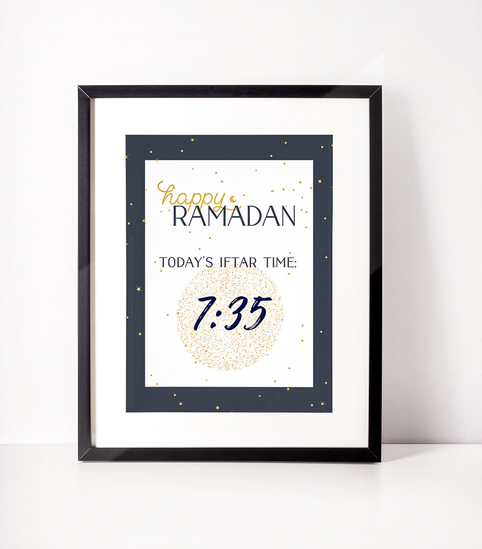 Constellation Iftar Time printable