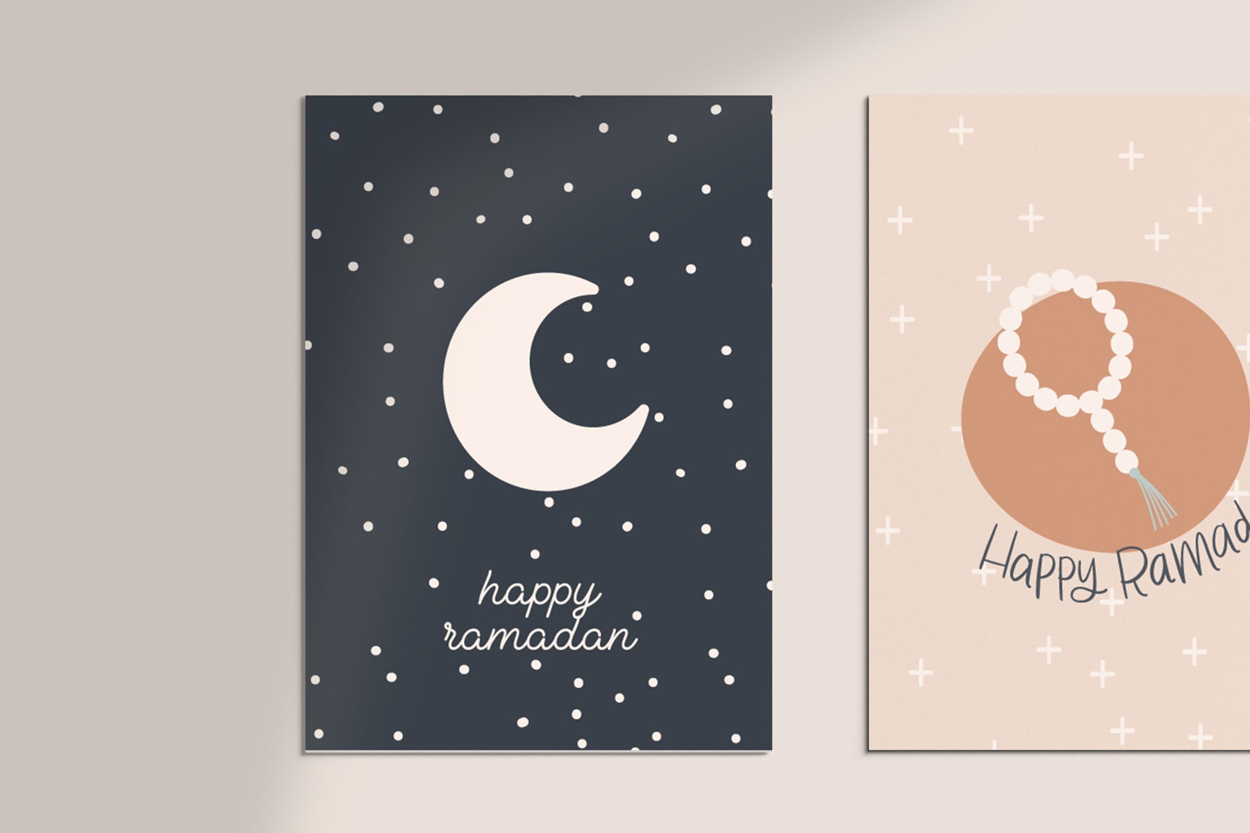 Luna Ramadan/Eid Greeting Cards printable