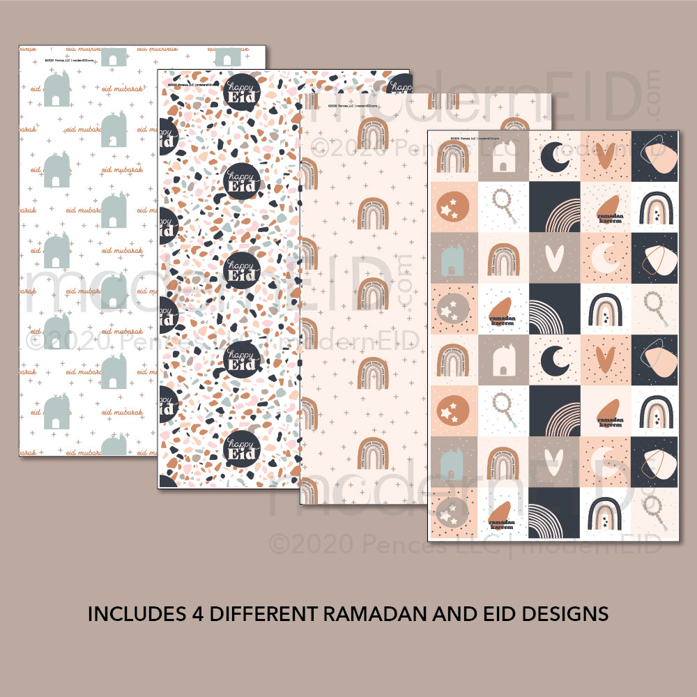 Luna Ramadan Wrapping Paper printable