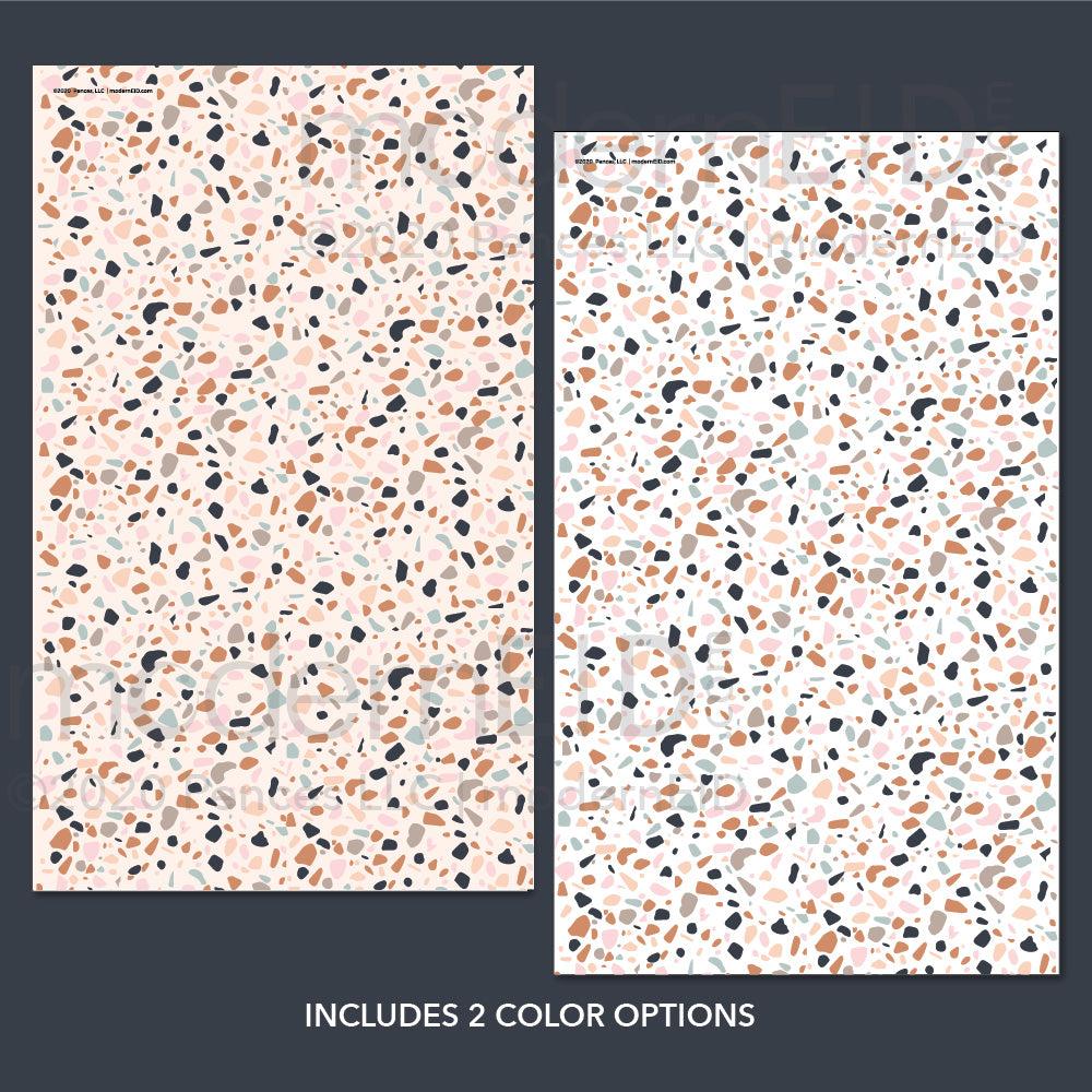 Terrazzo Wrapping Paper printable
