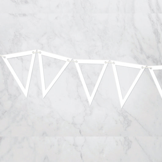 Acrylic Outline pennant banner